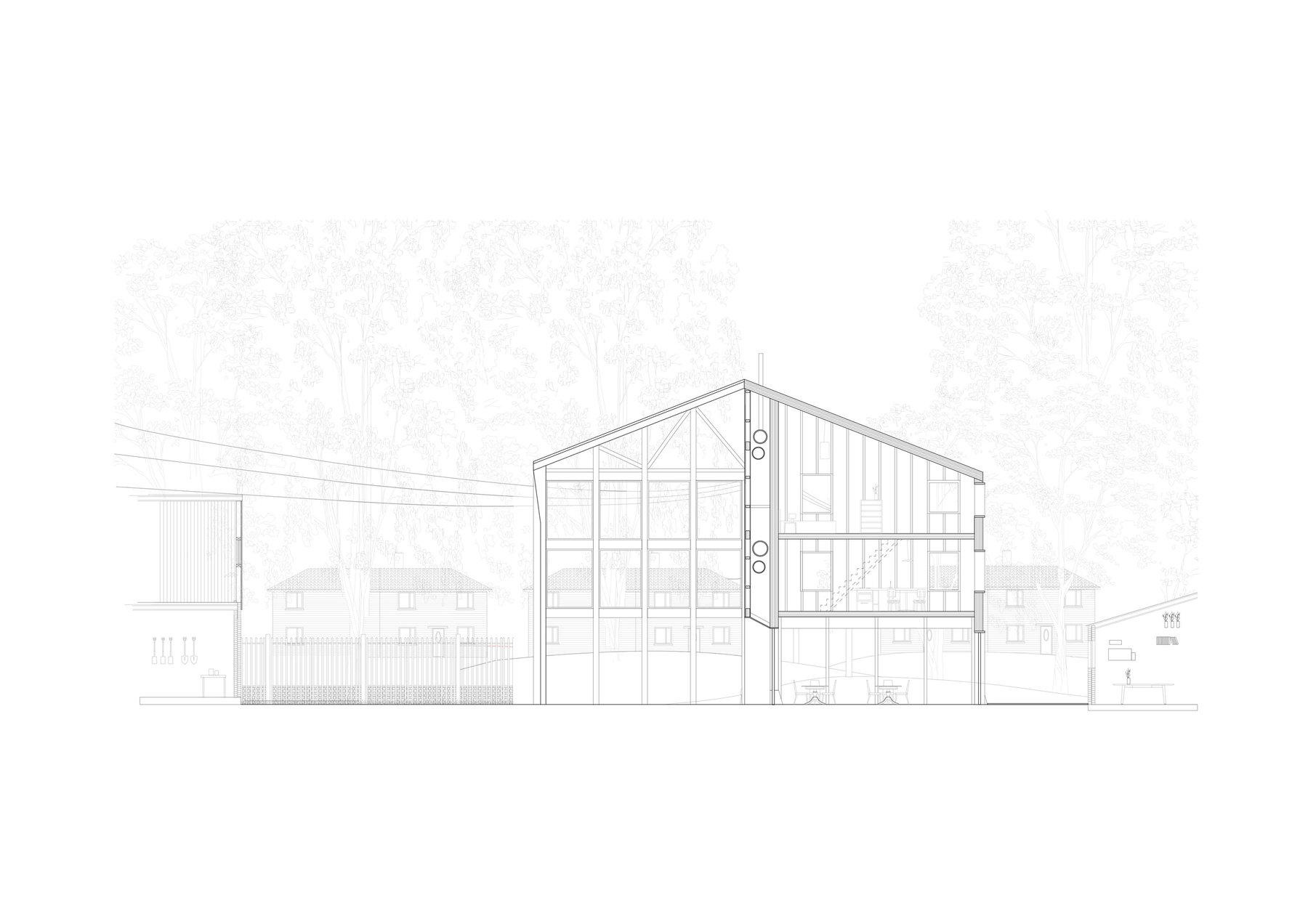 B, Section looking West, Proposal on St Michaels Estate.jpg
