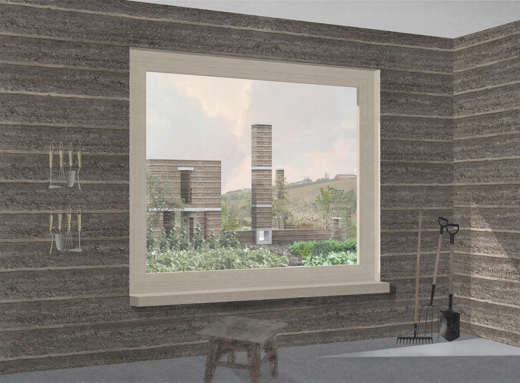 Joey Beer,Allotment Folly, View to the landscape describing initail folly use.jpg