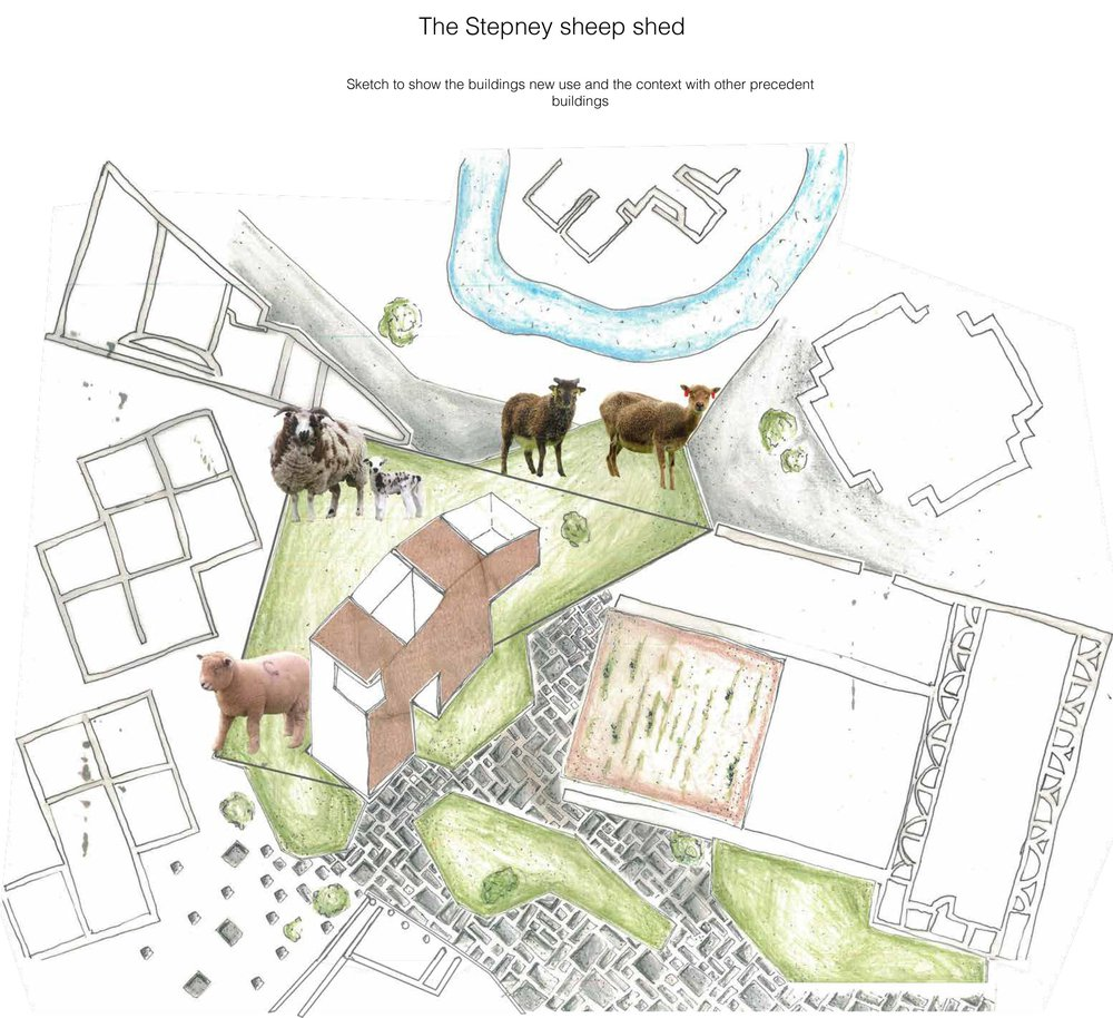 Neil-Palmer_Iterations_-Stepney-Green_Sketch-of-Proposed-Design-in-Context.pdf-Caption_-Sketch-to-show-buildings-use-in-context-of-surrounding-designs.jpg